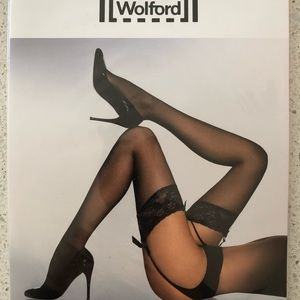 Wolford NWT Affaire 10 BLACK color stockings Med